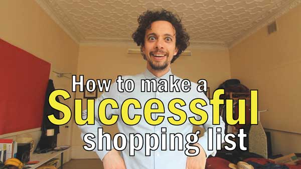 How to make a successful shopping list